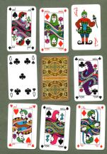 Collectable playing cards Arabic images, rich gold edges,